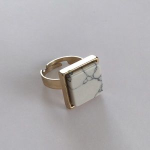Jewelry - Marble + Gold Colored Statement Ring